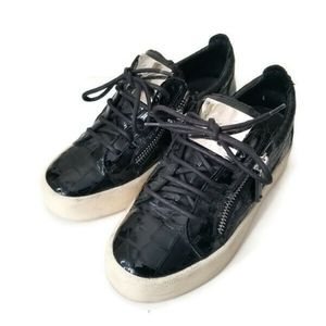 Giuseppe Zanotti Croc leather sneakers sz 36.5